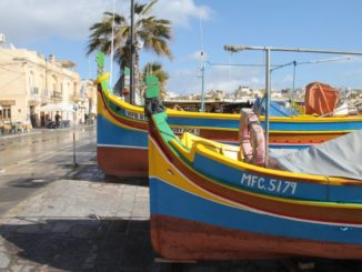 Malta, Marsaxlokk – directly on the street, Feb. 2013