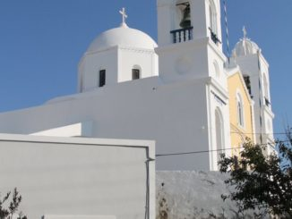 Greece, Santorini, Pyrgos – bells, Aug.2013