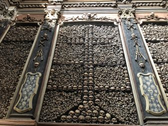Italy-Milan-Church of San Bernardino-bone chapel-wall-bones