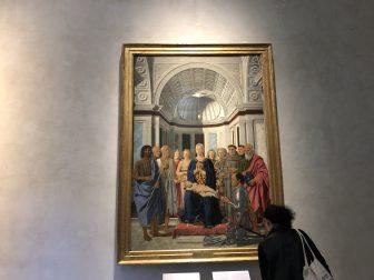 Italy-Milan-Pinacoteca di Brera-Brera Madonna-Piero della Francesca-visitor
