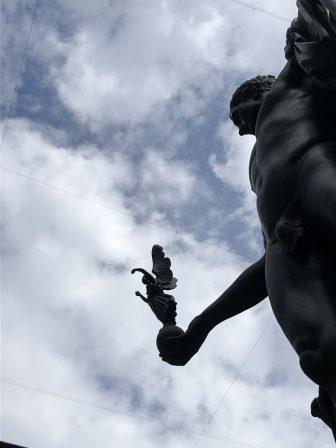 Italy-Milan-Pinacoteca di Brera-courtyard-statue-Napoleon-angel