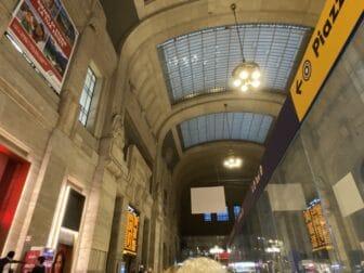 inside Central Station in Milan