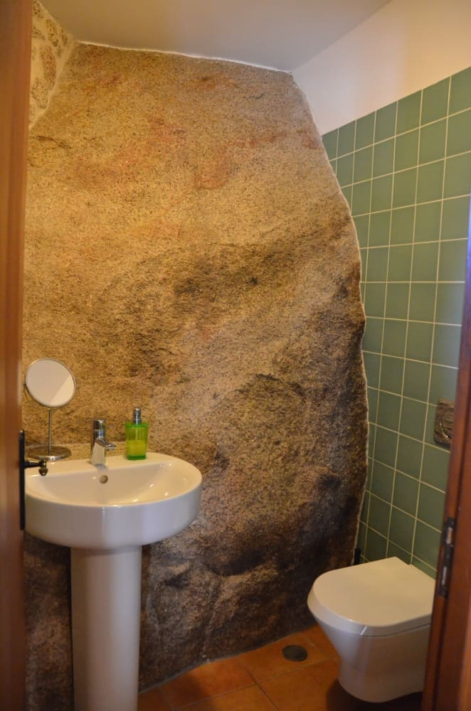 Boulder in the bathroom