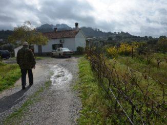 Portugal, Monsanto – his house, his car and him, Nov.2014
