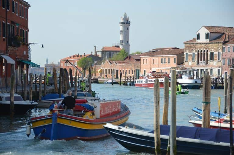 Murano – view with the boats, Apr.2017 (Venice)