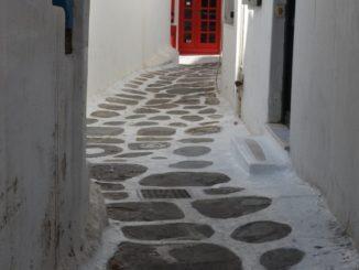 Greece, Mykonos – red door, Sept.2013
