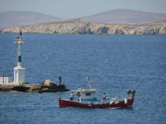 Greece, Mykonos – fishing boat, Aug.2013