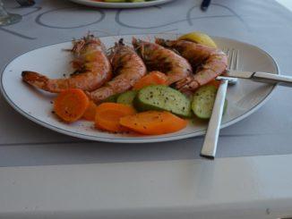 Greece, Mykonos – prawns, Aug.2013