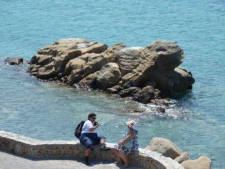 Greece, Mykonos – couple, Aug.2013
