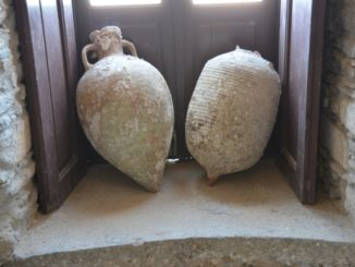 Greece, Naxos – old jars, Aug.2013