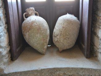 Greece, Naxos – old jars, Aug.2013