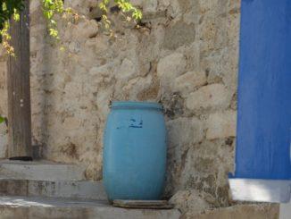 Greece, Naxos – blue jar, Aug.2013