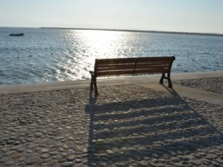 Greece, Naxos – bench, Aug.2013