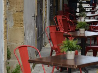 town – tables and chairs Mar.2015