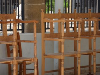 St.John's Cathedral – chairs, Mar.2015
