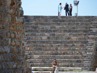 Salamis – people at the ruins, Apr.2015