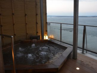 Wakura – open-air door bath, Mar.2016