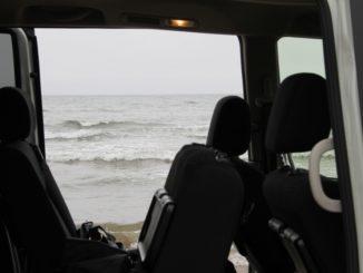 Chirihama – sea from the car, Mar.2016