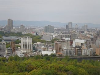 Japan, Osaka – from the top of the castle, Apr. 2013