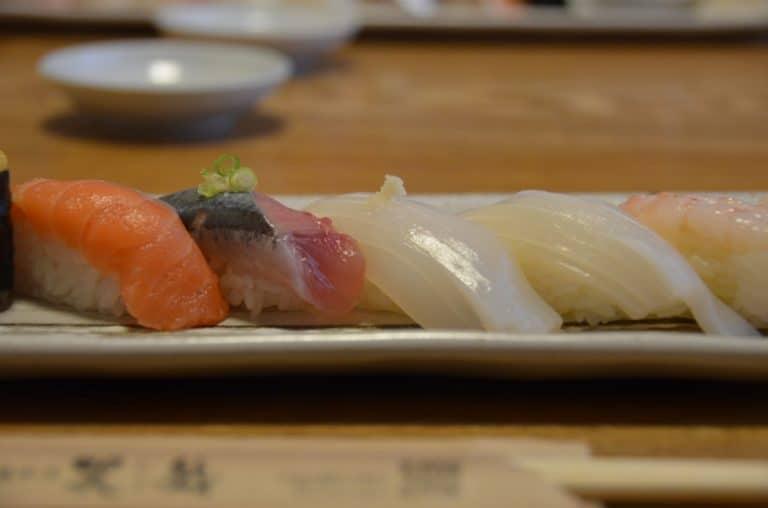Cuando comimos sushi en Otaru.