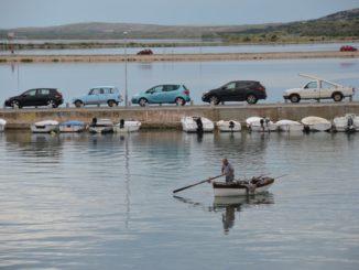 Croatia, Pag – cars and boat, July 2014