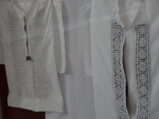 Croatia, Pag – shirts in museum, July 2014