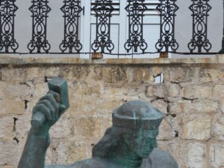 Croatia, Pag – statue, July 2014