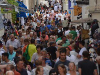 Croatia, Pag – many people, July 2014