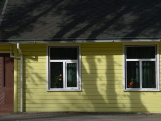 Lithuania, Palanga – yellow house, Sept.2014