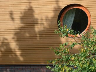 Lithuania, Palanga – round window, Sept.2014