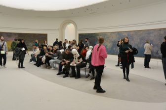 France-Paris-Musée de l'Orangerie-Monet-'Water Lilies'-people
