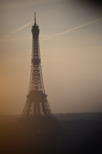 France-Paris-Eiffel Tower-sunset-from big wheel