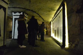 France-Paris-the Catacombs-exhibition-people