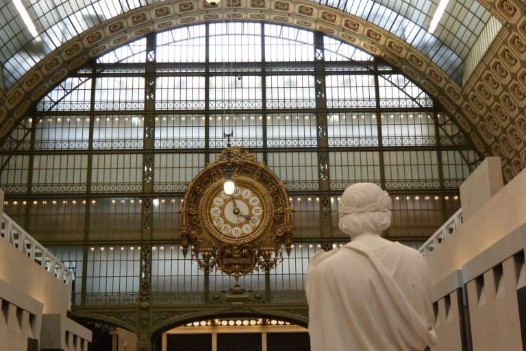 the very good lunch and Musee d'Orsay in Paris