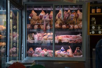 France-Paris-butcher-restaurant-Les Provinces Boucherie-Restaurant-showcase-meat