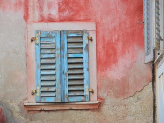 Slovenia, Piran – window, Feb. 2014