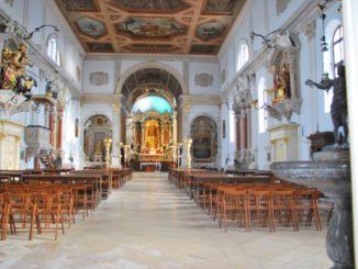 Slovenia, Piran – inside the church, Feb. 2014