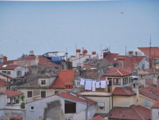 Slovenia, Piran – white washings, Feb. 2014