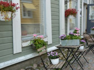 old town – flowers and chairs, Aug.2015