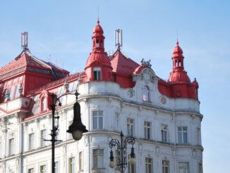 Czech, Prague – red roof and blue sky, Sept.2013