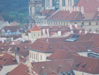 Czech, Prague – crowded bridge, Sept.2013