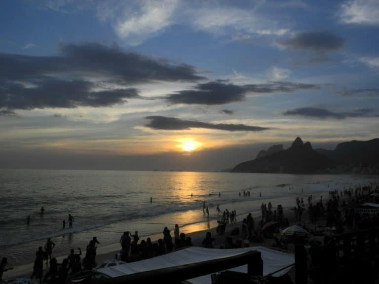 Sunset at Ipanema
