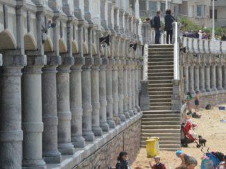Spain, San Sebastian – pillars, May 2014