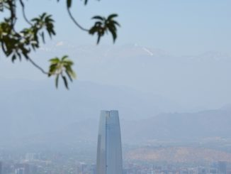 San Cristobal Hill – Gran Torre and leaves, Dec.2015