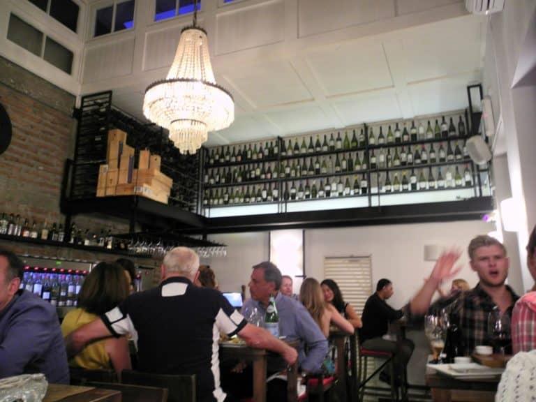 Enjoyed Chile wine in a stylish restaurant