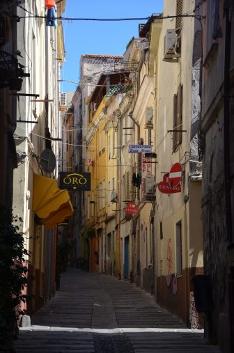 Italy-Sardinia-Sassari-old town-street