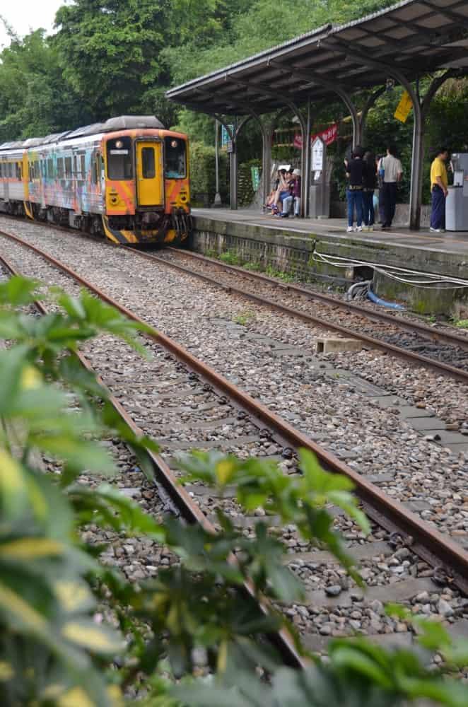 Linea locale da Jiufen a Shifen in Taiwan