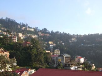 India, Shimla – view from room, Sept.2006