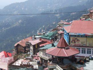 India, Shimla – looking down, Sept.2006