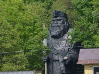 Japan, Shiraoi – statue, Sept. 2014